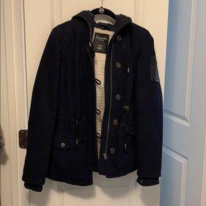 Aeropostale wool hooded coat